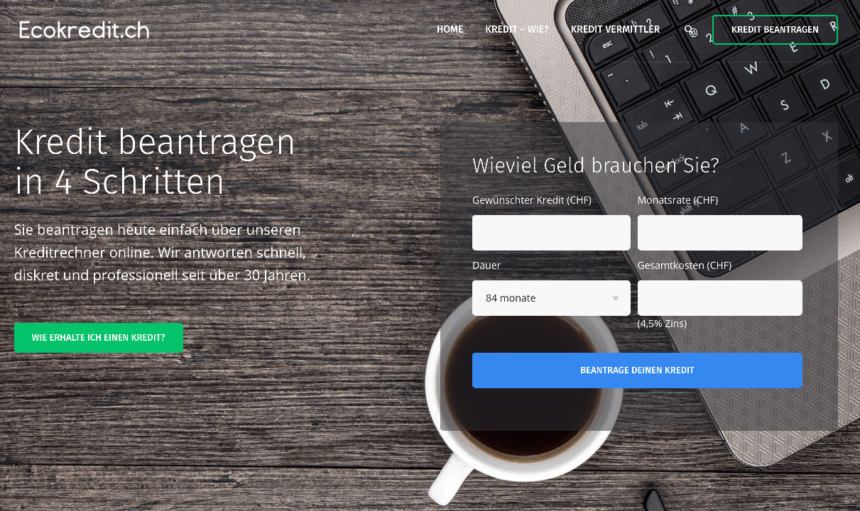 Privatkredit Schweiz Online